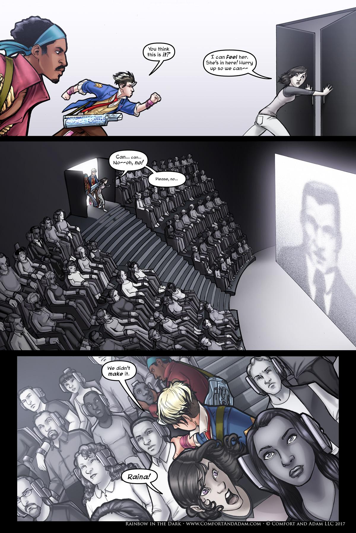 Rainbow in the Dark #3, pg. 17: Reeducation