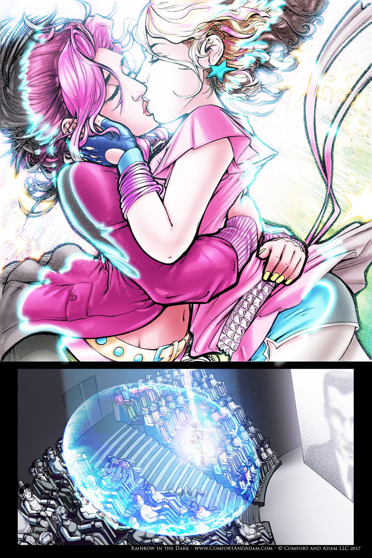 Rainbow in the Dark #3, pg. 19: Kiss