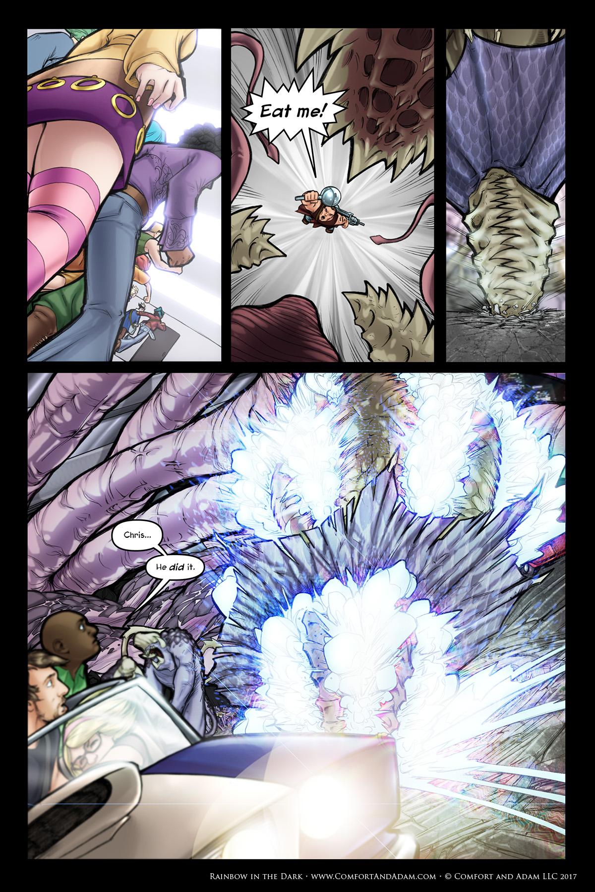 Rainbow in the Dark #3, pg. 22: Blow the Queen