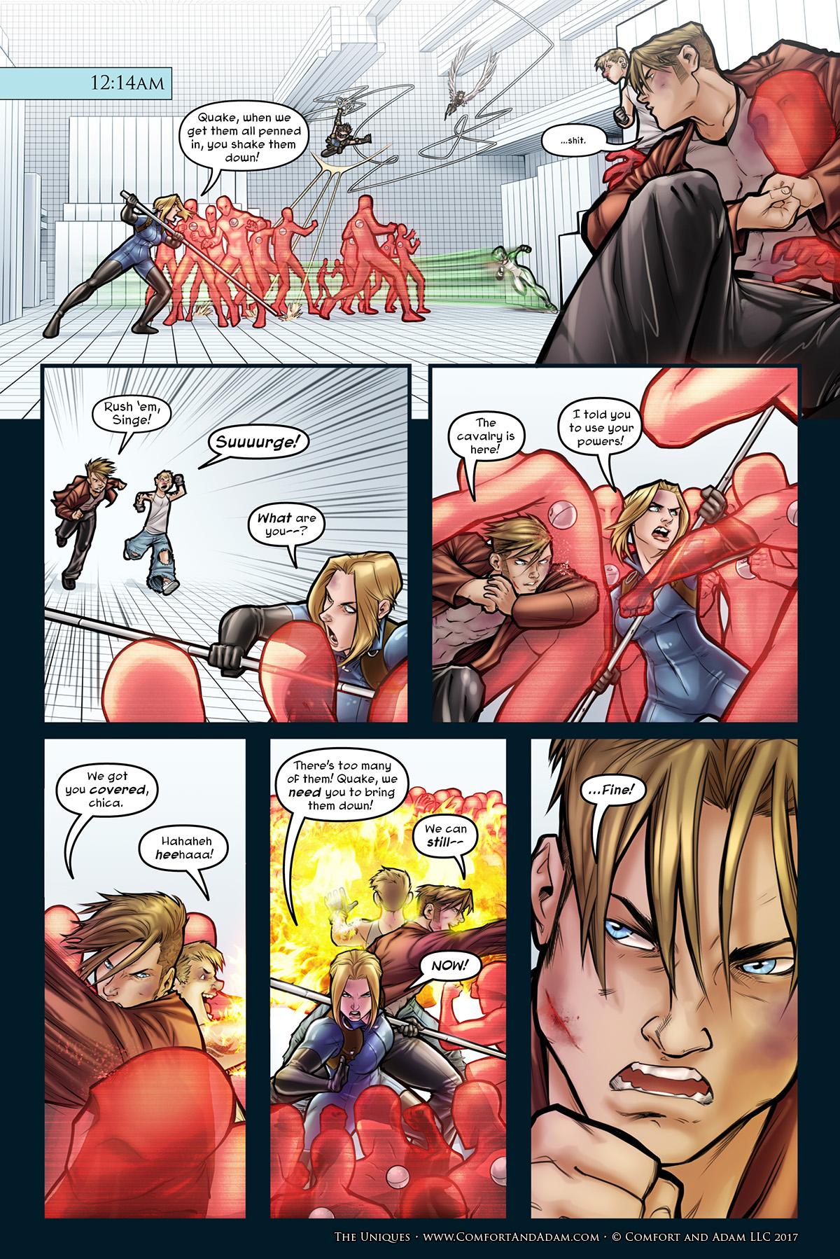 The Uniques #3, pg. 14: SURGE!