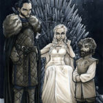 Game of Thrones: Jon Snow, Daenerys, and Tyrion