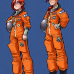 Otakon Spot Illustrations: Hiroko and Hiroshi in Space